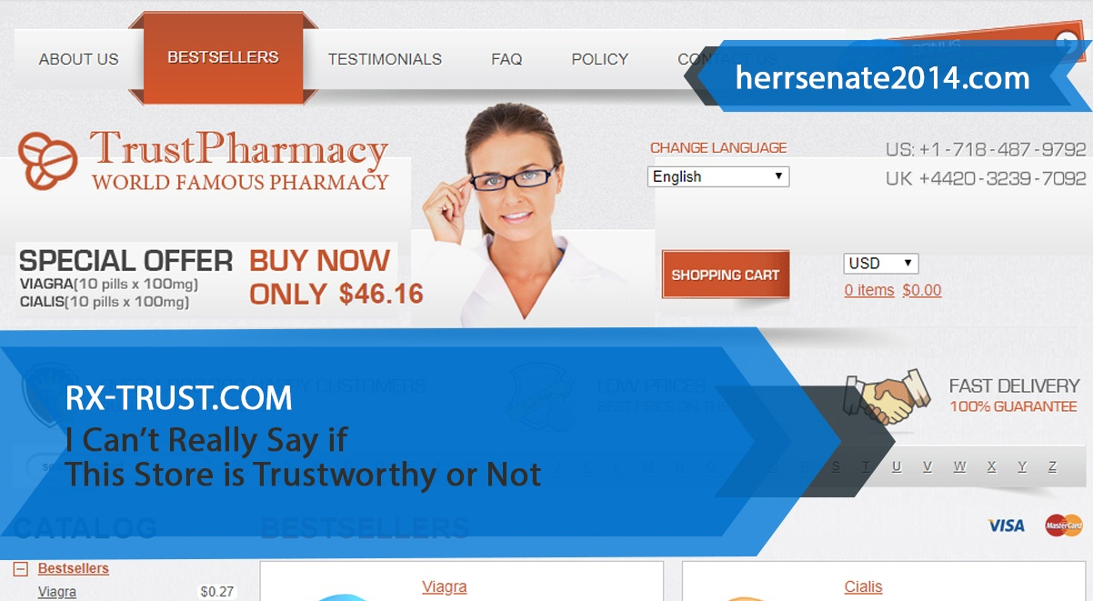 Rx-trust.com Review – I Can't Really Say If This Store Is Trustworthy Or Not