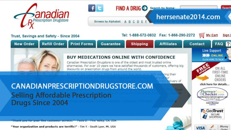 Canadianprescriptiondrugstore.com Review – Selling Affordable Prescription Drugs Since 2004