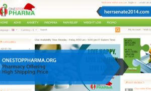 Onestoppharma.org Review – Pharmacy Offering High Shipping Price