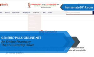 Generic-pills-online.net Review – An Online Pharmacy That Is Currently Down