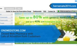 Onemedstore.com Review– Closed Web Pharmacy with Lots of Attention from Customers