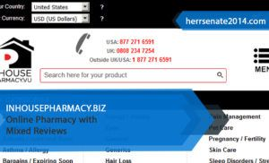 Inhousepharmacy.biz Review – Online Pharmacy with Mixed Reviews