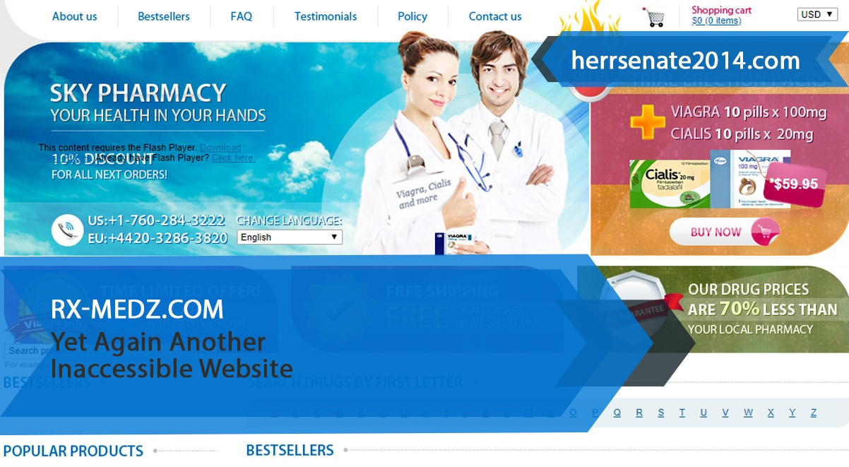 Rx-medz.com Review – Yet Again Another Inaccessible Website