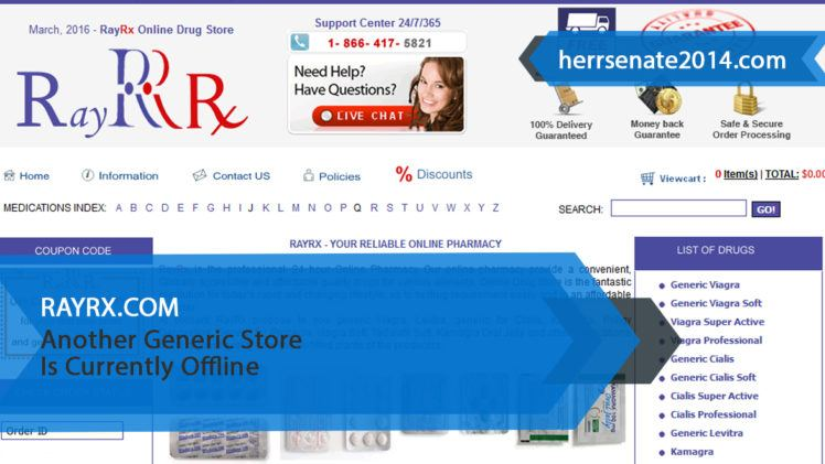 Rayrx.com Review – Another Generic Store Is Currently Offline