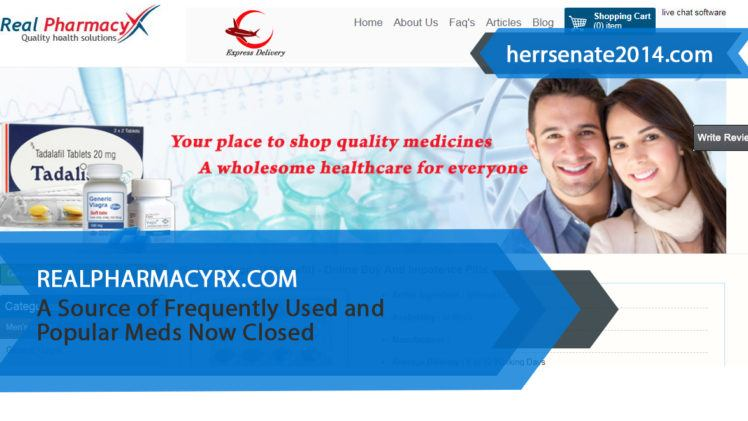 Realpharmacyrx.com Review – A Source of Frequently Used and Popular Meds Now Closed