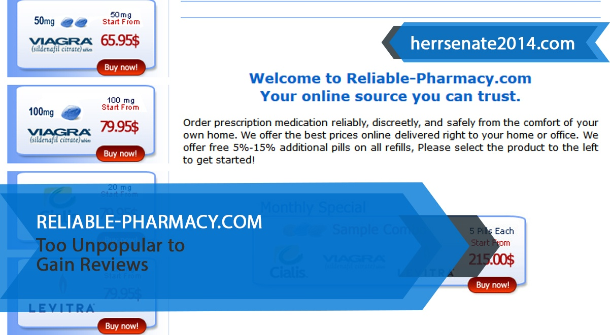 Reliable-pharmacy.com Review– Too Unpopular To Gain Reviews