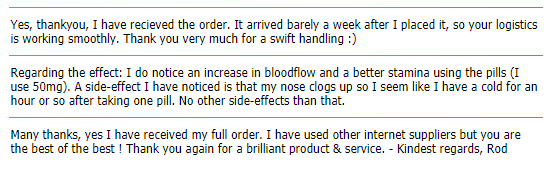 A Few HQ Pharm On-Site Testimonials