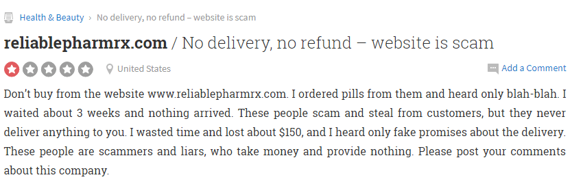 Reliable Pharm Rx Review 2014